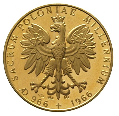 medal na Millenium, Aw: Matka Boska Częstochowska, w ot...