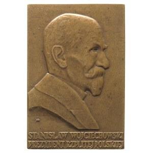 Stanisław Wojciechowski, plakieta sygnowana J. Aumiller...