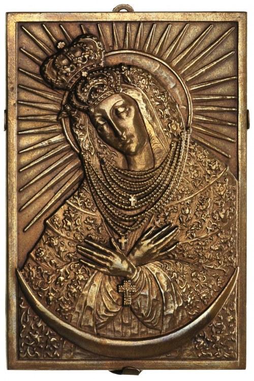 Matka Boska Ostrobramska, plakieta autorstwa S. R. Koźb...