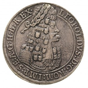 Leopold I 1657-1705, talar 1699, Hall, Dav. 3245, patyn...