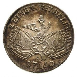 Fryderyk II Wielki 1740-1786, 1/2 talara 1750/A, Berlin...
