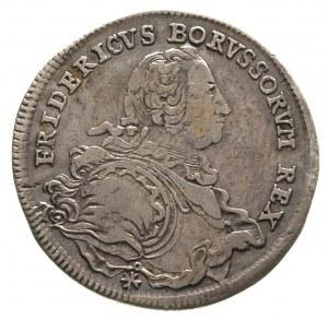 Fryderyk II Wielki 1740-1786, 1/2 talara 1752/B, Wrocła...
