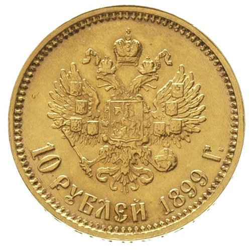 10 rubli 1899 / Ф-З, Petersburg, złoto 8.61 g, Kazakov ...