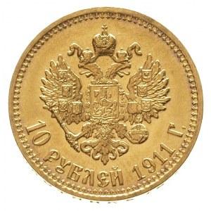 10 rubli 1911 / Э-Б, Petersberg, złoto 8.60 g, Kazakov ...