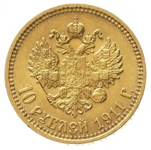 10 rubli 1911 / Э-Б, Petersburg, złoto 8.60 g, Kazakov ...
