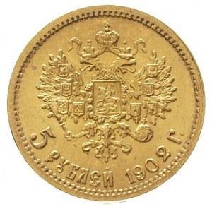 5 rubli 1902 / A-P, Petersburg, złoto 4.30 g, Kazakov 2...