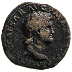 Neron 54-68, as 66, Lyon, Aw: Głowa cesarza w prawo, Rw...