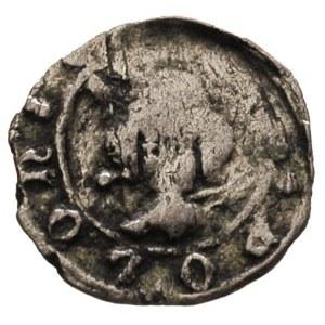 Kazimierz Wielki 1333-1370, denar koronny, Aw: Głowa kr...