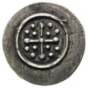 denar XII w., Aw: Krzyż perełkowy, w polu N-N-N-N, międ...