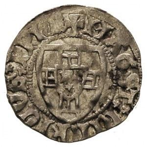 Henryk I von Plauen 1410-1414, szeląg, Gdańsk, Aw: Tarc...