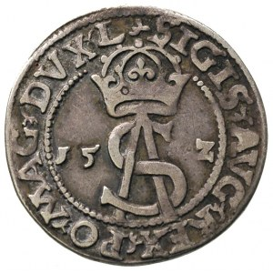 trojak 1562, Wilno, odmiana bez tarczy na rewersie, Ige...