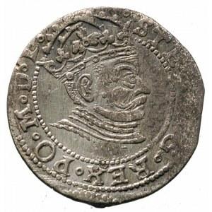 grosz 1581, Ryga, herb miasta rozdziela pełną datę, Ger...