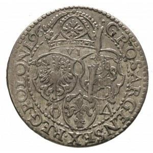 szóstak 1596, Malbork, obwódka zewnętrzna nie dotyka wi...