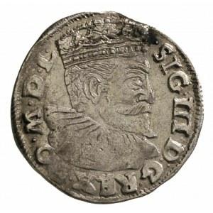 trojak 1595, Poznań, Iger P.95.4.b R, nieco niedobity