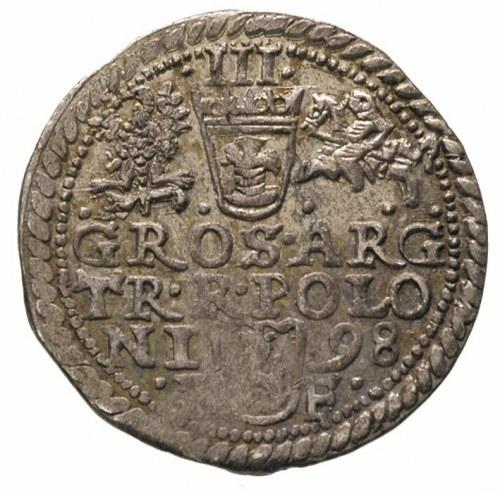 trojak 1598, Olkusz, Iger O.98.1.b, ładny egzemplarz, p...