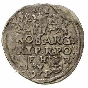 trojak 1598, Poznań, litery I - F H - R i końcówka daty...