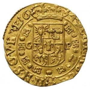 dukat 1649, Kraków, Aw: Półpostać króla i napis wokoło ...