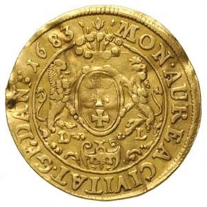 dukat 1683, Gdańsk, Aw: Popiersie i napis wokoło IOAN I...