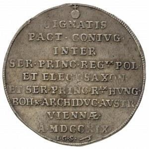 talar okolicznościowy 1719, Drezno, Aw: Napis, Rw: Dwa ...