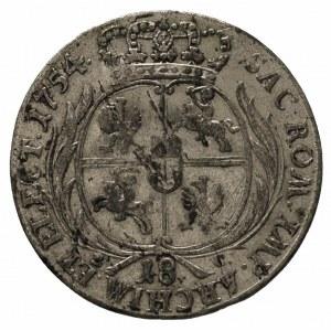 ort 1754, Lipsk, odmiana z dużym popiersiem króla, na a...