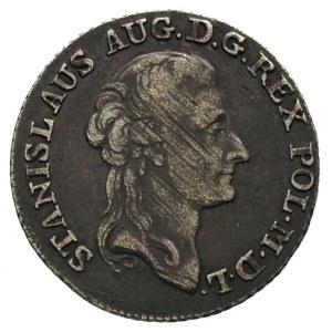 złotówka 1788, Warszawa, Plage 296, justowana, ciemna p...