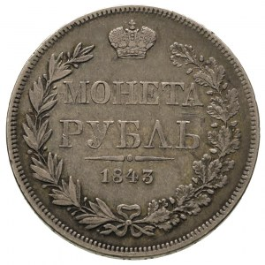 rubel 1843, Warszawa, Plage 431, Bitkin 422, patyna