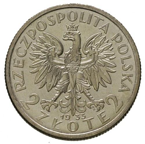 2 złote 1933, Warszawa, Głowa Kobiety, Parchimowicz 110...