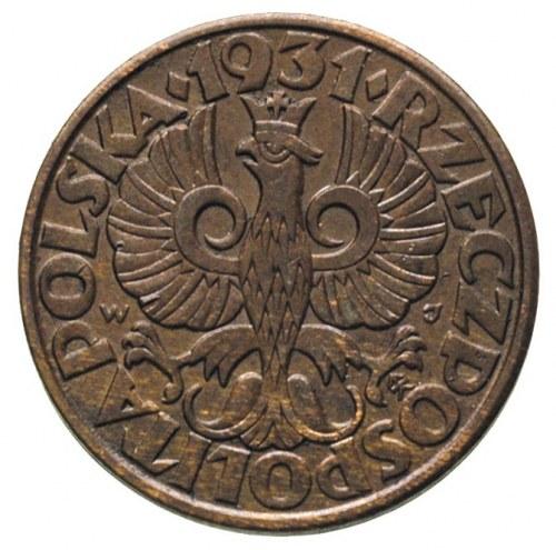 5 groszy 1931, Warszawa, Parchimowicz 103.e, ładne i rz...
