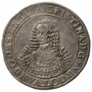 talar 1642, Szczecin, Aw: Popiersie i napis, Rw: Tarcza...