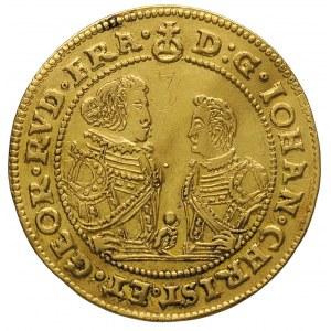 3 dukaty 1610, Złoty Stok, Aw: Dwie półpostacie i napis...