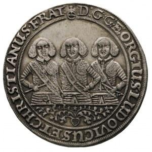 półtalar 1656, Brzeg, Aw: Półpostacie trzech braci i na...