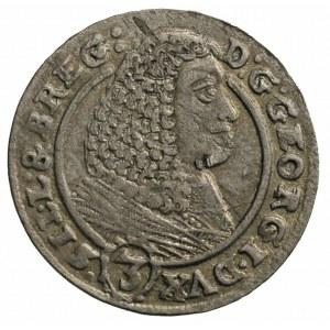 3 krajcary 1660, Brzeg, F.u.S. 1843, delikatna patyna