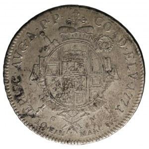 talar 1771, Koblencja, Aw: Popiersie i napis, Rw: Tarcz...