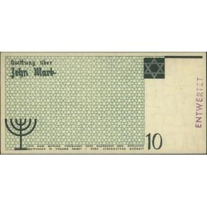 10 marek 15.05.1940, Wzór kasowy z pieczęcią ENTWERTET,...