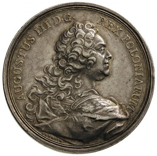 August III - medal nagrodowy autorstwa Wermuth'a 1743 r...