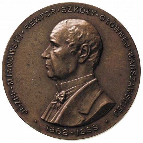 Józef Mianowski-rektor Szkoły Głównej Warszawskiej, med...