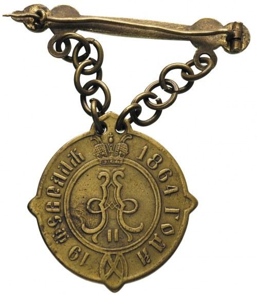 Aleksander II 1855-1881, odznaka sołtysa guberni piotrk...