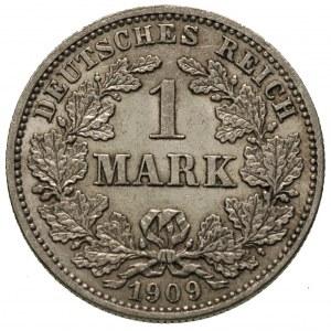 1 marka 1909 / J, Hamburg, J. 17, bardzo rzadka