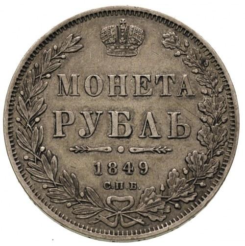 rubel 1849 ПА, Petersburg, Bitkin 224, patyna