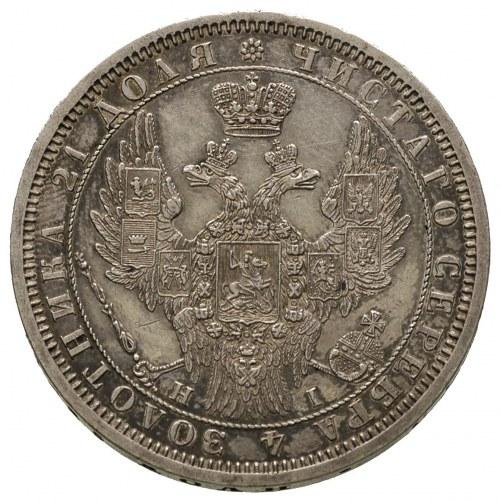 rubel 1854 HI, Petersburg, Bitkin 233