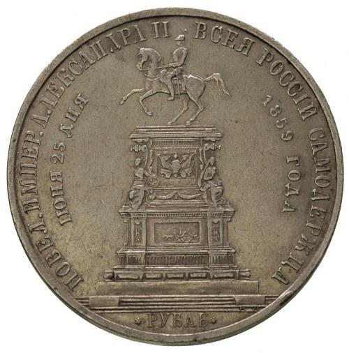 rubel pamiątkowy 1859, wybity z okazji odsłonięcia pomn...