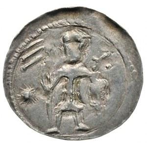 Bolesław Kędzierzawy 1146-1173, denar, Aw: Dwaj książęt...