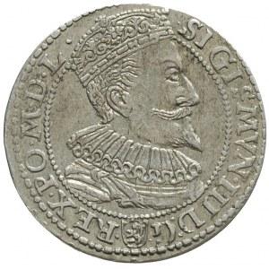 szóstak 1596, Malbork, obwódka wewnętrzna dotyka górnej...