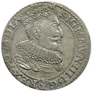 szóstak 1596, Malbork, obwódka wewnętrzna dotyka dolnej...