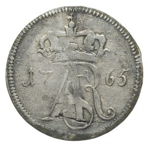 trojak 1765, Toruń, monogram i korona wąskie, Iger  T.6...