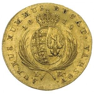 dukat 1812, Warszawa, złoto 3.48 g, Plage 117, Fr. 68, ...