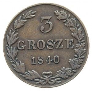 3 grosze 1840, Warszawa, Plage 192, Iger KK.40.1.a