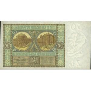 50 złotych 28.08.1925, seria AW., Miłczak 62b, Lucow 62...