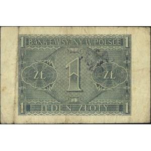 1 złoty 1.08.1941, seria BD, z nadrukiem \G-O-N / POLSK...
