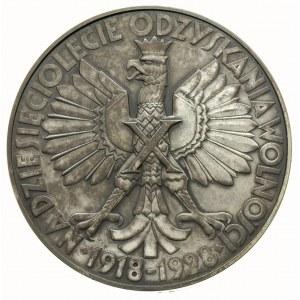 medal na X-lecie Odzyskania Wolności autorstwa T. Breye...
